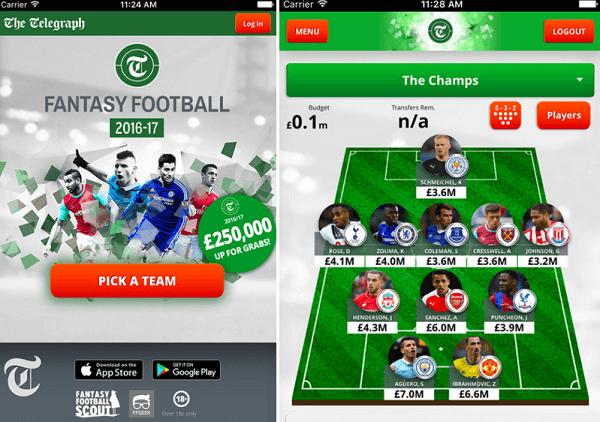 Mobile Telegraph Fantasy Football