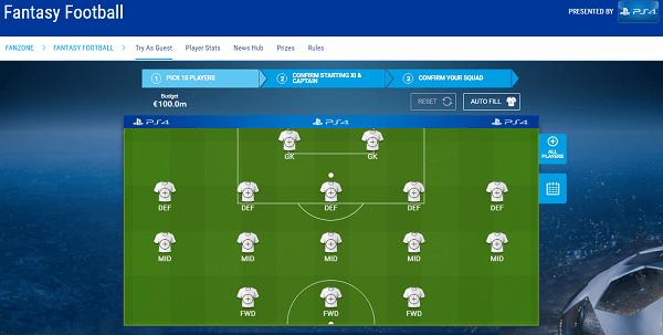 Fantasy Footbal UEFA