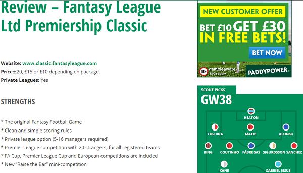 Fantasy League Classic