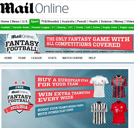 Mail Fantasy Football