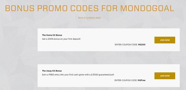 Mondogoal Promo Codes