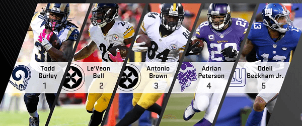 national football league fantasy football players