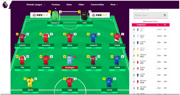 fantasy premier league game