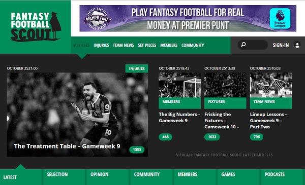 Premier League Fantasy Footy