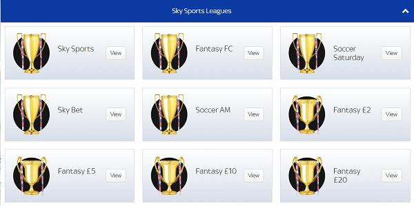 Sky Fantasy Footy Leagues
