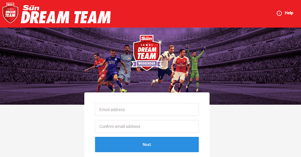 Sun Euro Dream Team Register