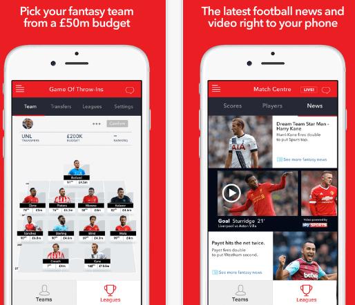 Sun Football App