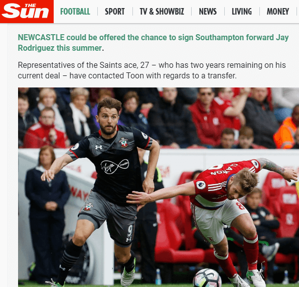 Sun Football Transfer