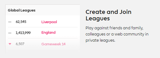 Barclays Fantasy Football Create Leagues