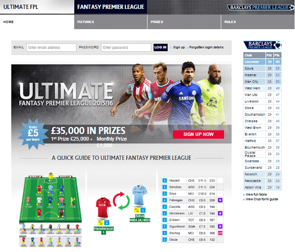 Barclays Premier League Fantasy
