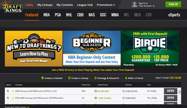 Play on DraftKings UK!